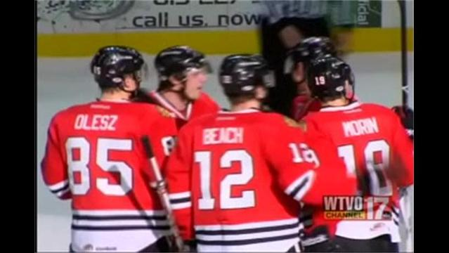 IceHogs Drop Opener in Chicago 10/13/12