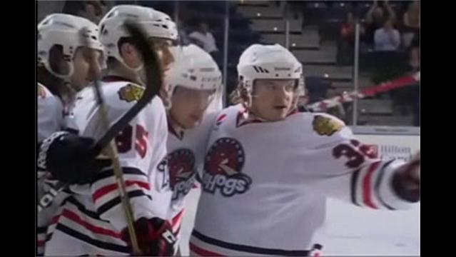 IceHogs Fall in Chicago 10/13/12