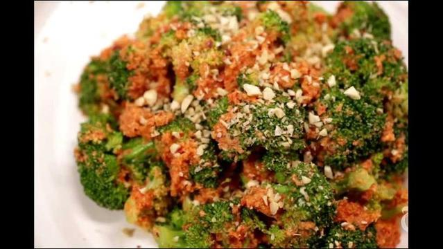 Melissa Clark: Broccoli salad with hazelnut romesco sauce
