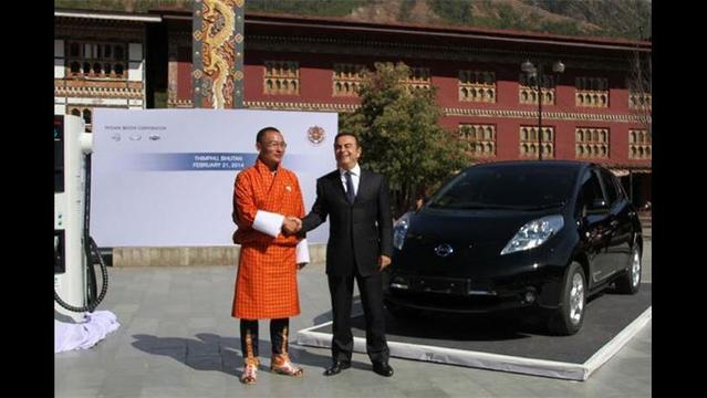 Nissan shows strong sales in January, and Bhutan embraces the LEAF