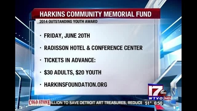 Harkins Memorial Fund Set to Give Youth Award