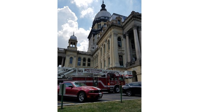 Illinois State Capitol on Lockdown
