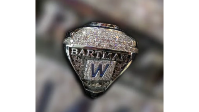 Cubs Present Steve Bartman with Personalized 2016 World Series Champions Ring!