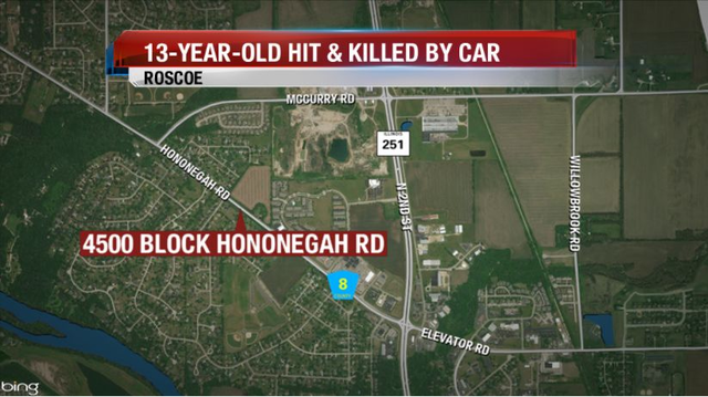 UPDATE: 13-Year-Old Boy Hit & Killed in Roscoe Identified