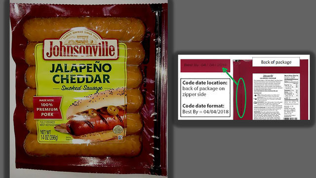 Johnsonville recalling pork sausage that may contain foreign matter