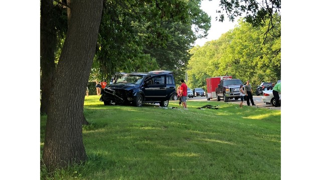One Critical After Head-on Crash