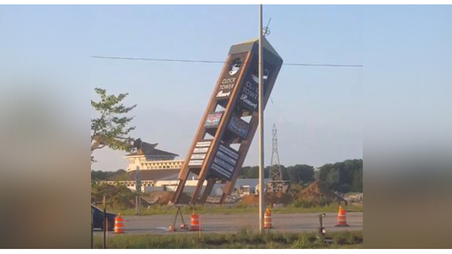 Final piece of Rockford's iconic Clock Tower demolished